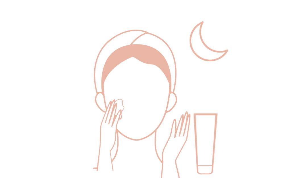 como aplicar gel exfoliante facial